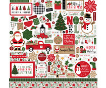 Echo Park Jingle All The Way 12x12 Inch Element Sticker (JIN252014)