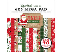 Echo Park Jingle All The Way 6x6 Inch Cardmakers Mega Pad (JIN252031)