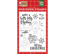 Echo Park Holly Jolly Christmas Clear Stamps (JIN252043)