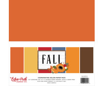 Echo Park Fall 12x12 Inch Coordinating Solids Paper Pack (FAL251015)