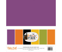 Echo Park Halloween Magic 12x12 Inch Coordinating Solids Paper Pack (HMA249015)