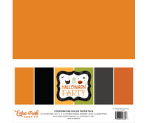 Echo Park Halloween Party 12x12 Inch Coordinating Solids Paper Pack (HP250015)