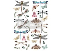 Re-Design with Prima Decor Transfers 24x35 Inch Riverbed Dragonflies (645991)