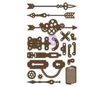 Prima Marketing Make Something Chipboard Diecut (17pcs) (653545)