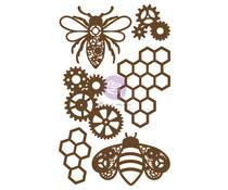 Prima Marketing Powerful Bees Chipboard Diecut (6pcs) (653552)