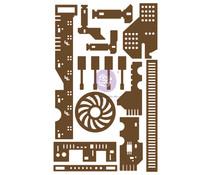 Prima Marketing All the Parts Chipboard Diecut (15pcs) (653569)