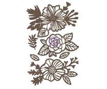 Prima Marketing Happy Flowers Chipboard Diecut (6pcs) (653590)