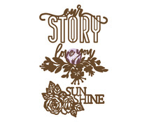 Prima Marketing Our Story Chipboard Diecut (3pcs) (653637)