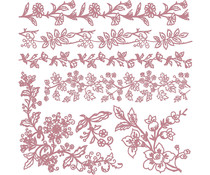Re-Design with Prima Decor Stamps 12x12 Inch Bold Branches (654184)