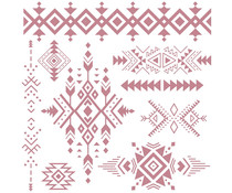 Re-Design with Prima Decor Stamps 12x12 Inch Tribal Prints (654221)