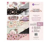 Prima Marketing Hello Pink Autumn 12x12 Inch Paper Pad (654238)