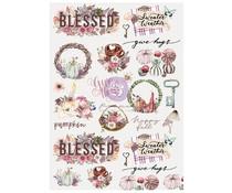 Prima Marketing Hello Pink Autumn Rice Paper Hello Autumn (654481)