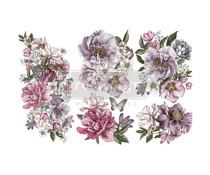 Re-Design with Prima Decor Transfers 6x12 Inch Dreamy Florals (3 Sheets) (655976)