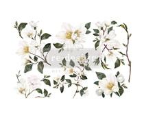 Re-Design with Prima Decor Transfers 6x12 Inch White Magnolia (3 Sheets) (656041)