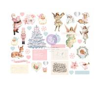 Prima Marketing Christmas Sparkle  Chipboard Stickers (37pcs) (997755)