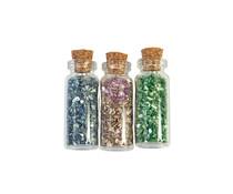 Prima Marketing Christmas Sparkle Glass Glitter Vials (3pcs) (997786)