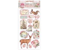 Stamperia Chipboard 15x30cm Pink Christmas (DFLCB37)