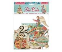 Stamperia Christmas Patchwork Die Cuts (DFLDC43)