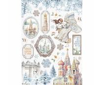 Stamperia Rice Paper A4 Winter Tales Castle (6pcs) (DFSA4584)