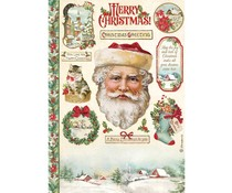 Stamperia Rice Paper A4 Classic Christmas Santa Claus (6pcs) (DFSA4593)