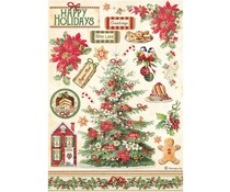 Stamperia Rice Paper A4 Classic Christmas Tree (6pcs) (DFSA4594)