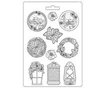 Stamperia Soft Mould A4 Winter Tales Garland (K3PTA4514)