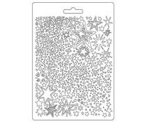Stamperia Soft Mould A5 Christmas Patchwork Stars (K3PTA584)