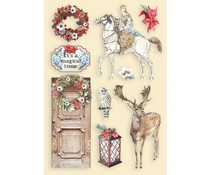 Stamperia Colored Wooden Shapes A5 Winter Tales Horse & Deer (KLSP102)