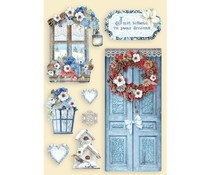 Stamperia Colored Wooden Shapes A5 Winter Tales Door & Window (KLSP103)