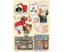 Stamperia Colored Wooden Shapes A5 Romantic Christmas (KLSP107)