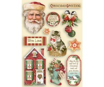 Stamperia Colored Wooden Shapes A5 Classic Christmas (KLSP108)