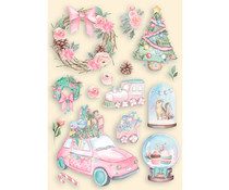 Stamperia Christmas Rose Colored Wooden Shapes A6 (KLSPA617)