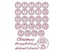Stamperia Stencil A4 Christmas Patchwork Advent (KSG475)