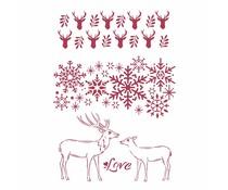 Stamperia Stencil A4 Winter Tales Love (KSG478)