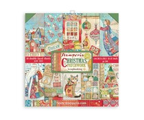 Stamperia Christmas Patchwork 8x8 Inch Paper Pack (SBBS40)
