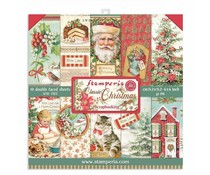Stamperia Classic Christmas 6x6 Inch Paper Pack (SBBXS06)