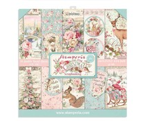 Stamperia Pink Christmas 6x6 Inch Paper Pack (SBBXS07)
