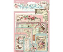 Stamperia Pink Christmas Cards (SBCARD08)