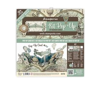 Stamperia Pop Up Kit 12x12 Inch Voyages Fantastiques Balloon (SBPOP03)