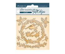 Stamperia Romantic Christmas Garland Decorative Chips (SCB101)