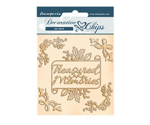 Stamperia Romantic Christmas Memories Decorative Chips (SCB103)