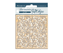 Stamperia Winter Tales Ramage Decorative Chips (SCB65)