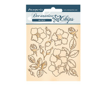 Stamperia Romantic Christmas Flowers Decorative Chips (SCB69)