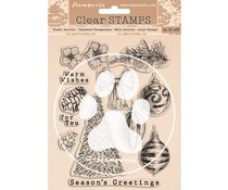 Stamperia Romantic Christmas Clear Stamps (WTK157)