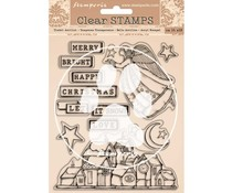 Stamperia Christmas Patchwork Clear Stamps (WTK158)