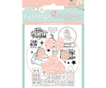 Stamperia Christmas Rose Feliz Navidad Clear Stamps (WTKJR38)