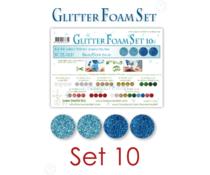 Leane Creatief Glitter Foam Sheets A4 Blue/Dark Blue (4pcs) (25.7651)