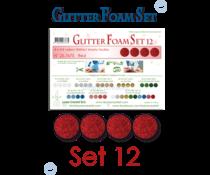 Leane Creatief Glitter Foam Sheets A4 Red (4pcs) (25.7675)