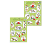Leane Creatief The World of Mice: Christmas Time A4 Decoration Sheets (10pcs) (50.7705)