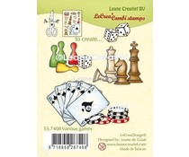 Leane Creatief Various Games Clear Stamps (55.7408)